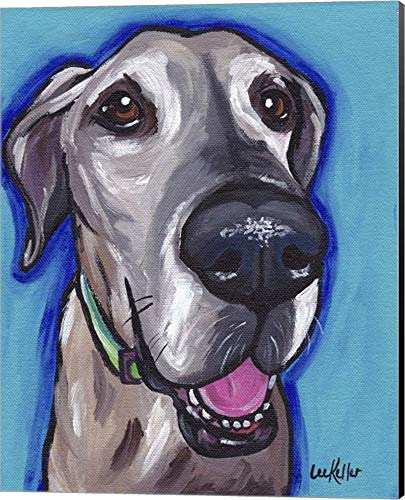 Great Dane Beau by Hippie Hound Studios Canvas Art Wall Picture, Museum Wrapped with Black Sides, 16 x 20 inches