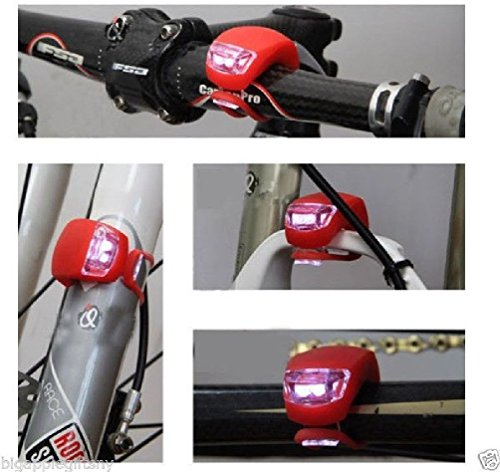 8pcs Silicone LED Bike Light Bicycle Lamp Waterproof Tail Rear Wheel Light