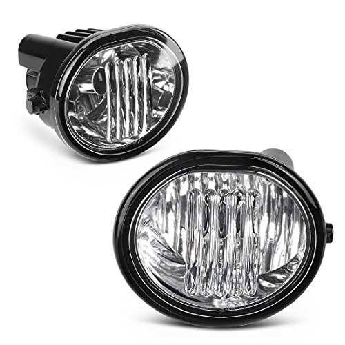 Matrix Vibe (AUTOSAVER88 Fog Lights Set for 03-08 Toyota Matrix/ 03-08 Pontiac Vibe One Pair of Right and Left Clear Glass Lens Fog Lamps)