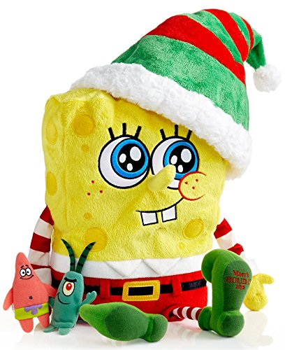 2014 Macy's Thanksgiving Day Parade Holiday Spongebob Square Pants Toy with Finger Puppets]()