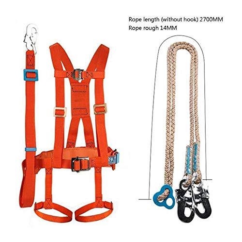 Kylinlkj Climbing Harness, Detachable Full Body Harness with Carabiner, Outward Band Fire Rescue Tree Harness Caving Rock Climbing Rappelling Equip (Equip Rescue)