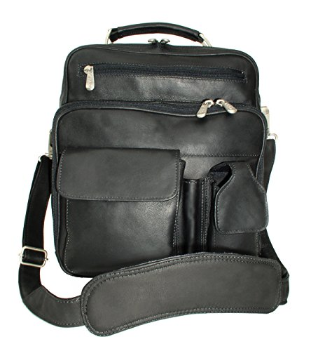 Piel Leather Camera Bag - Piel Custom Personalized Leather Adventurer Deluxe Men's Bag in Black