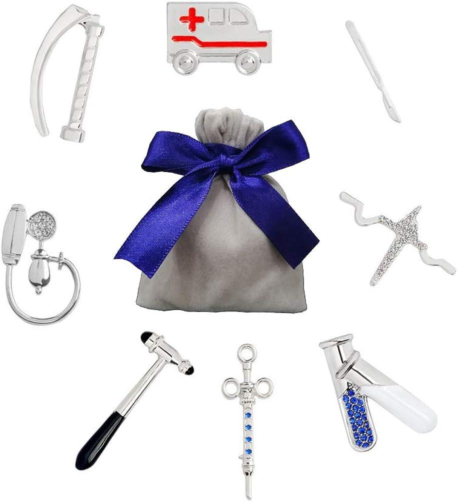 YUMU CASA 8 PCS Broche Creativo Pin Diseño de Equipo Médico Forma para Bolsas Ropa Mochilas Mejor Regalo para Médico Enfermera #B