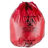 "TOTAL SUPPLIERS Hygienic Virgin Printed Bio-Waste Garbage Bag (Red, 19"" X 21"", 100 Pieces)"