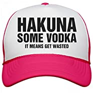 Customized Girl Hakuna Some Vodka: Neon Snapback Trucker Hat