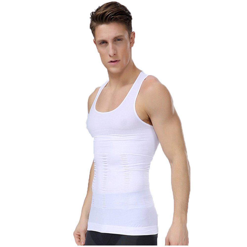 Frogwill Mens Posture Slimming Body Shaper Vest Shirt Abs Abdomen Slim