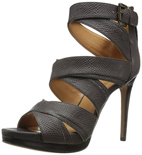 8 Bonjorno Heeled Leather Women's Sandal West Dark Nine M Us Grey anO8ZUq