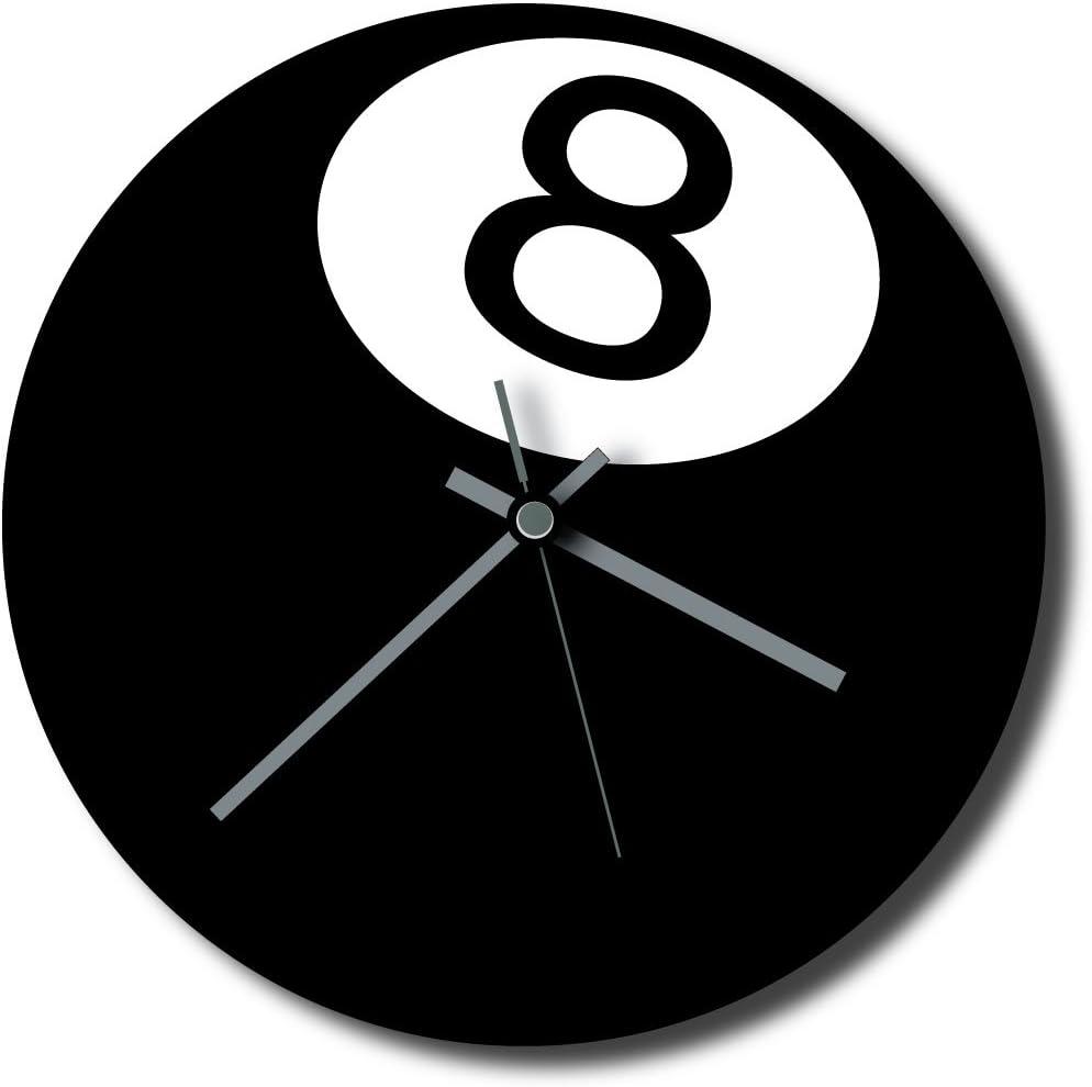 NO 8 bolas de billar - Reloj de pared/iqgamesroom/diversión/reloj ...