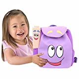 Dora Explorer Backpack Rescue Bag with Map,Pre-Kindergarten Dora Backpack Purple WEN FEIYU