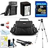8GB Accessory Kit For Sony HDR-PJ230, HDR-PJ230/B HD Camcorder Includes 8GB High Speed SD Memory Card + Replacement (2300Mah) NP-FV70 Battery + Ac / DC Charger + Deluxe Case + 50 Tripod + Micro HDMI Cable + USB 2.0 SD Reader + More
