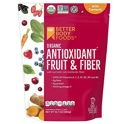 BetterBody Foods Organic Antioxidant Fruit and Fiber Superfood Blend, 12.7 Ounce (The Best Antioxidant Fruit)