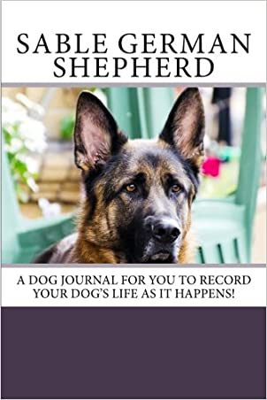 Sable German Shepherd Blank Book