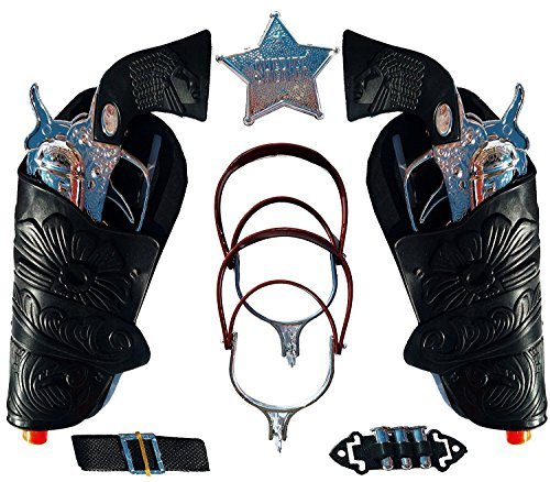 Top Selling Toy Cowboy Gun & Holster Set with Sheriff Badge, Belt and Spurs -
