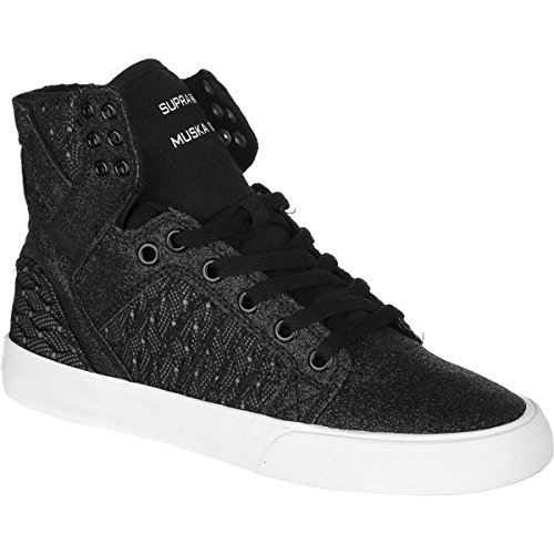 Supra Skytop, Baskets mode femme Noir (Black/White-white Bww)