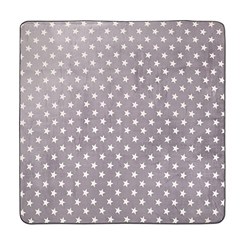 MeMoreCool Simple Stylish Stars Grey Baby Anti-sliping Crawling Rugs Living Room/Bedroom Area Rugs Eco-friendly Material 31 X 73 Inch