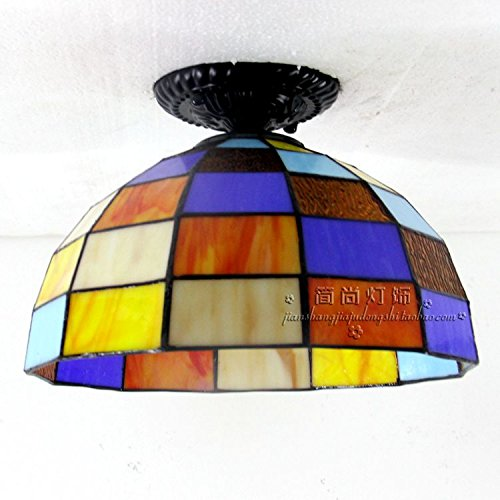 Tiffany Ceiling lamps living room bedroom balcony window porch lamp lighting personality Colorfull Ceiling Lights DF102 LU1018