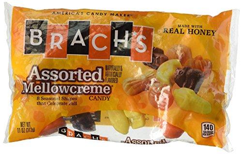Brach's Assorted Halloween Mellowcremes, 11 Ounce Bag (Pack of (Halloween Mellowcremes)