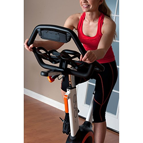 EVO IX Fitness Indoor Bike with Sway Frame and Orb Gear, Grey/Yellow