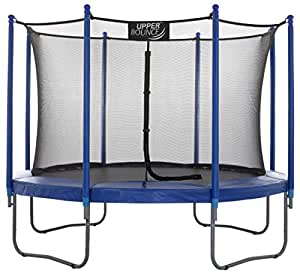 "Upper Bounce 10 FT. Trampoline & Enclosure Set equipped with the New ""EASY ASSEMBLE FEATURE"""