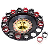 Brewski Brothers GROU-201 Roulette Drinking Game with 16 Black and Red Shot Glasses