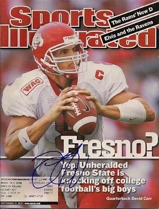 Autographed Signed David Carr Sports Illustrated Magazine - Certified Authentic David Carr Hand Signed
