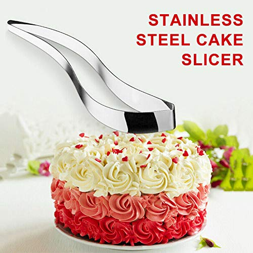 Luckly Cortadora de Pastel de Acero Inoxidable con Nuestra cortadora de Pastel UK para Cortar el Pastel