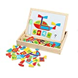 GYBBER&MUMU Little Star Drawing Writing Board Magnetic Puzzle Double Easel Wooden Toy