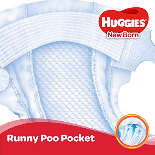 Huggies Tape Diapers New Born Baby XS Size 72 Pieces at best price