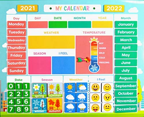 Weather Calendar 2022.My First Daily Magnetic Calendar Weather Station For Kids Moods And Emotions Usable On Wall Or Fridge Buy Online At Best Price In Uae Amazon Ae