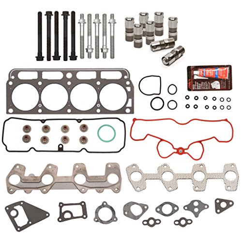 Evergreen HSHBLF8-10422S Lifter Replacement Kit fits 98-03 GMC Sonoma Chevrolet Pontiac 2.2 OHV VIN 4 5 Head Gasket Set, Head Bolts, Lifters