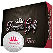 Premium Womens Golf Balls by Princess Golf - Pink Logo (1 Dozen)