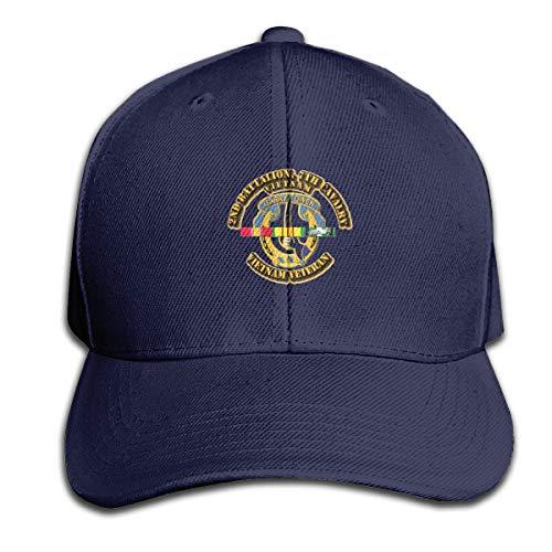 Bohoustore 2nd Bn - 7th Cavalry W Vietnam SVC Ribbons Adjustable Trucker Baseball Cap Navy