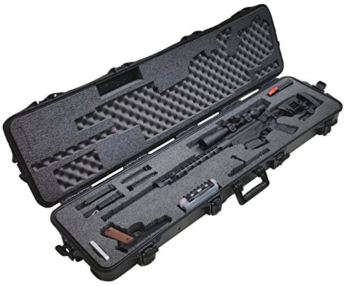 Case Club Pre-Made Precision Rifle Waterproof Case with Accessory Box & Silica Gel to Help Prevent Gun Rust