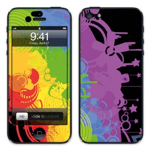 Diabloskinz B0081-0037-0001 Vinyl Skin für Apple iPhone 5/5S Chaotic Rainbow