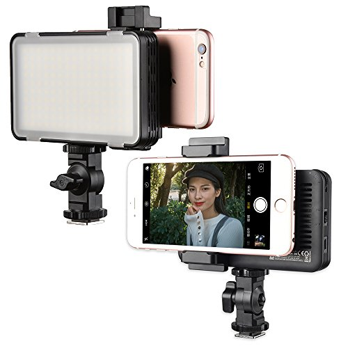 Godox LEDM150 Mobile Phone Video Light,LED Adjustable Brightness & Built-in Lithium Battery Compatible for iPhone,Samsung,Huawei and Other Smartphone,Canon,Nikon, Pentax,Olympus Camera, Camcorder DV