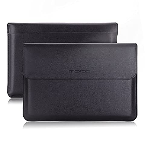 MoKo 13.3-Inch Sleeve Bag, PU Leather Protective Laptop Notebook Case Cover for Apple MacBook Air (Notebook Rigida)