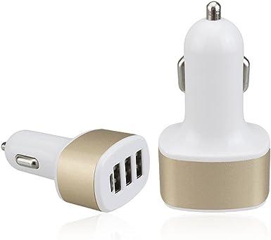 deolaco cargadores de coche 3 USB qc2.0 Cargador rápido tipo