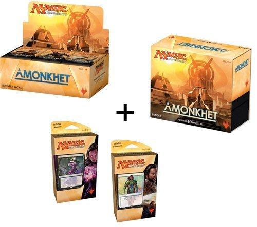 Magic Amonkhet Booster Box + Bundle + Both Planeswalker Decks! MTG Variety Pack