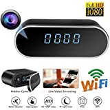 Spy Camera, Hidden Camera WIFI Spy Camera in Clock/HD 1080P Wireless Security Camera for Nanny Cam Night Vision Remote View Motion Dection