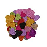 MagiDeal Pack of 45 Glitter Foam Heart Shape Mixed Self Adhesive Sticker for Kids Crafting Other Craft