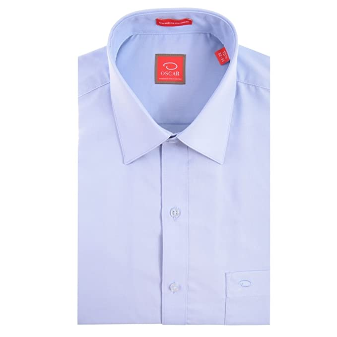 bf07d9bd59 Oscar de la Renta Camisa Vestir Caballero Manga Larga Azul 18 34-35 ...