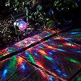 Solar Party Lights, LED Rotating Solar Powered Colourful Revolving LED Spotlight Garden Party Stake Light