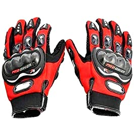 Autokraftz Red Probiker Full Racing, Riding, Motorcycle Riding Gloves (Large, 1 Pair)