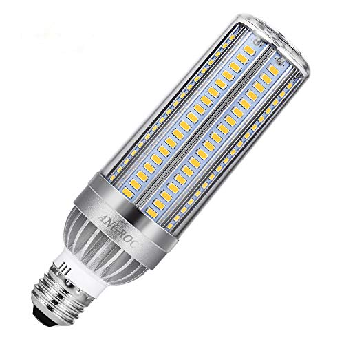 50W Super Bright LED Corn Lamp Bulb 5400 Lumen (500W Equivalent) 6500K Cool Daylight, E26 Screw Base for Large Area Commercial Lighting, Garage Warehouse Factory, Replace Metal Halide HID,CFL,HPS