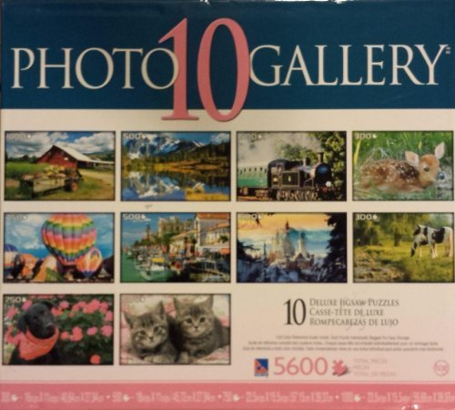 Photo 10 Gallery Deluxe Jigsaw Puzzles (10 Puzzles, 5600 Pieces) (10 Photo Ducks)