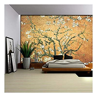 Orange Copper Almond Blossom by Vincent Van Gogh...