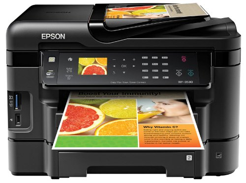 Epson WorkForce WF 3530 Wireless Color Printer with Scanner, Copier and Fax, Office Central