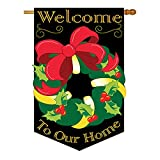 Cheap Two Group – Xmas Reef Winter – Seasonal Xmas Applique Decorative Vertical House Flag 28″ x 44″