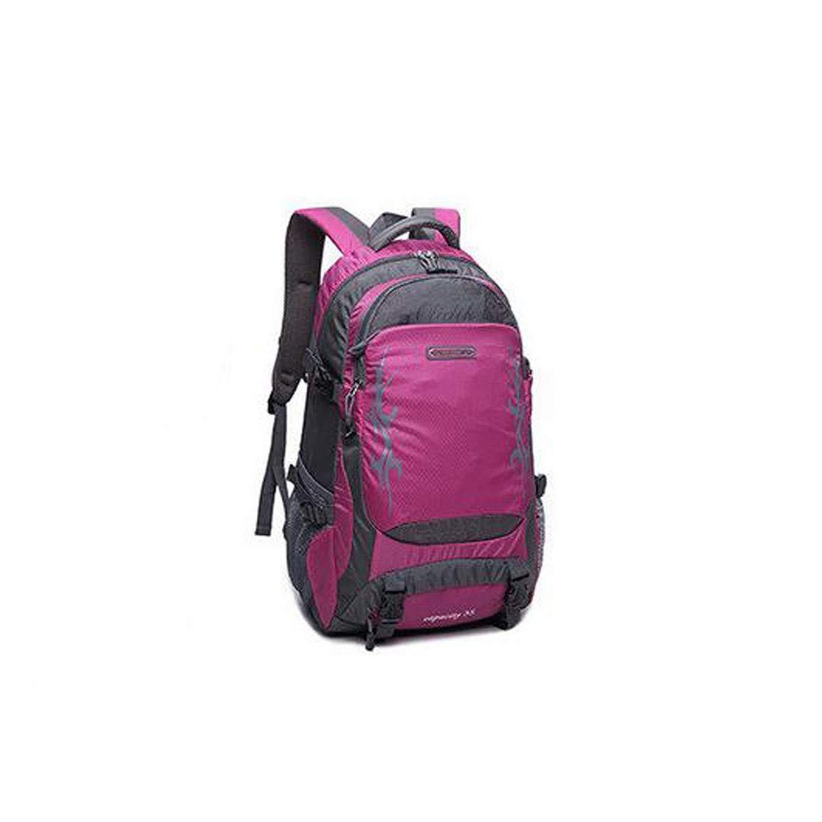 Chenjinxiang01 Large-Capacity Backpack Color : Purple Leisure Travel Light Waterproof Outdoor Mountaineering Bag 40L Black, Blue, Orange, Purple, Military Green, Rose red