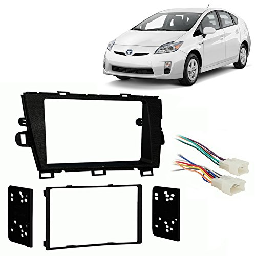Fits Toyota Prius/Prius Plug-in 2010-2011 Double DIN Harness Radio Dash Kit ()